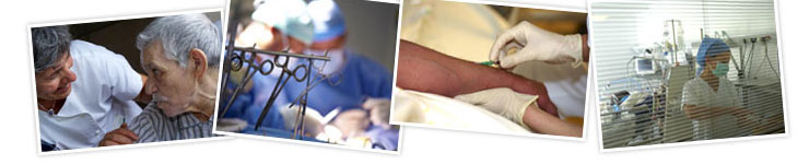photos d'infirmiers dans le header